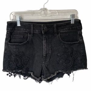 American Eagle Hi-Rise Shortie Short Stretch Sz 8